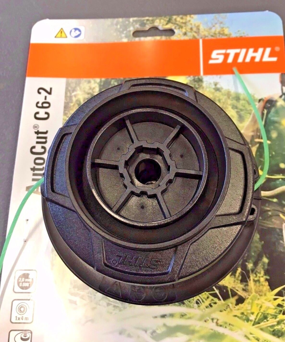 Double LINED STRIMMER HEAD Trimmer Head For Stihl AUTOCUT C6-2 Weed Grass Eater