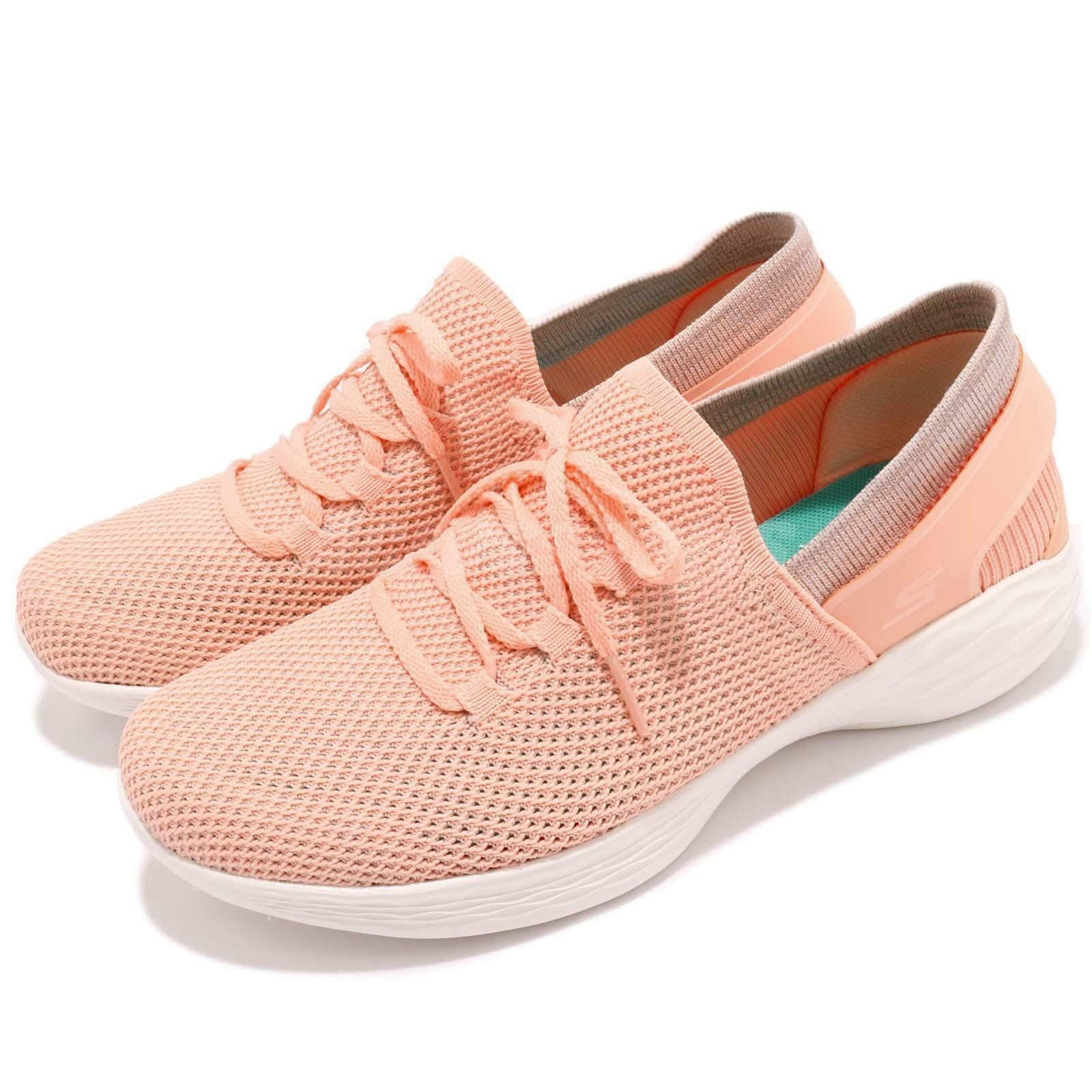 Skechers You-Spirit Peach Rose Chaussure Blanc Women Casual Walking Chaussure Rose Basket 14960-PCH 8f3dac