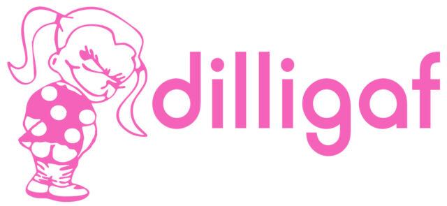 FUNNY DILLIGAF STICKER GIRLS DILLIGAF BUMPER STICKER