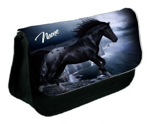 Makeup Bag Great Gift high quality Black Horse Personalised Pencil Case