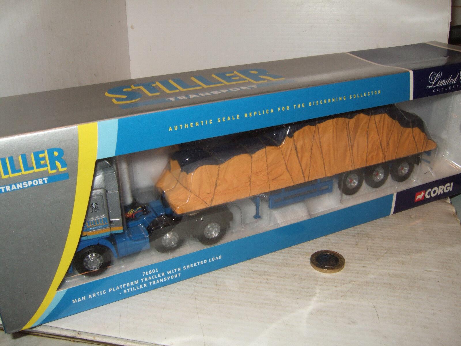 Corgi 76801 Man Artic Platform Trailer & Sheeted load -Stiller Transport 1 50