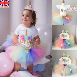 Fabulous 3Pcs Baby Girl 1St Birthday Party Princess Outfit Romper Cake Funny Birthday Cards Online Aeocydamsfinfo