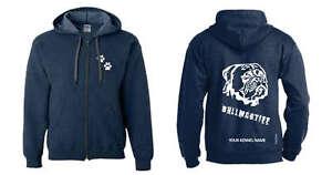 Dedicated Bullmastiff Exclusive Dogeria Design Full Zipped Dog Breed Hoodie head