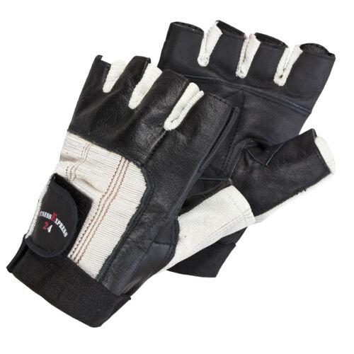 Fitness Handschuhe Leder schwarz Größe S-XXL Kraftsport Trainingshandschuhe NEU