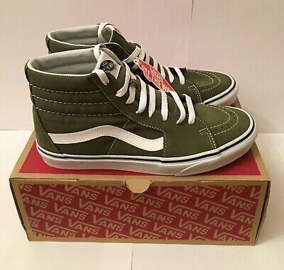 Vans Sk8 Hi pour homme hiver vert mousse Vrai Blanc Toile Daim Chaussures De Skate Taille 8 | eBay