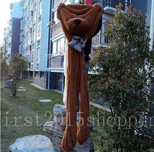 300cm marrone Big Plush Teddy Bear Skin cover Semi-Finished Products Xmas Gift