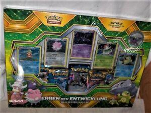 Pokemon Erben der Entwicklung PIN Kollektion Karten Booster ,deutsch,Neu,OVP