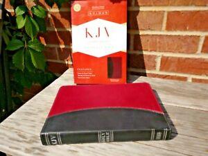 LNIB-KJV-Giant-Print-Reference-Bible-Black-Burgundy-LT-Red-Letter-amp-Concordance