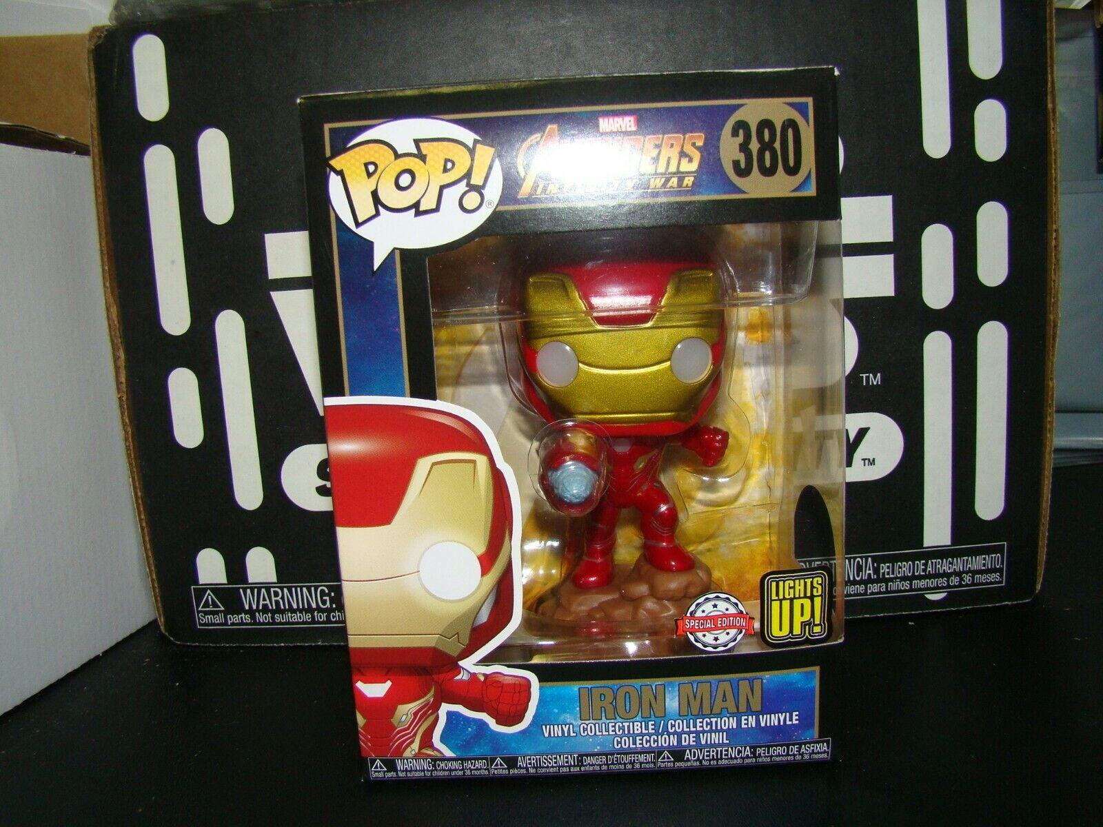 Funko Pop Marvel Avengers Infinity War Iron Man Light Up 380 Walgreens For Sale Online Ebay