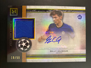 2020-21 TOPPS MUSEUM COLLECTION BILLY GILMOUR RC PATCH AUTO GOLD /50 CHELSEA