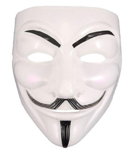 Anonymous Hacker Vendetta Guy Masque Adultes Halloween Déguisement Fête Accessoire