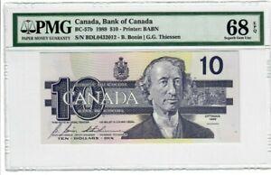 Canada-10-Dollars-Banknote-1989-BC-57b-PMG-Superb-GEM-UNC-68-EPQ