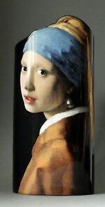 Vase-de-Musee-034-Vermeer-Fille-Avec-La-Perle-034-design-vase-Neuf