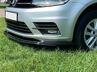LOWER FRONT ABS GLOSS BLACK SPLITTER SPOILER BUMPER LIP ADD ON VW CADDY MK4 15