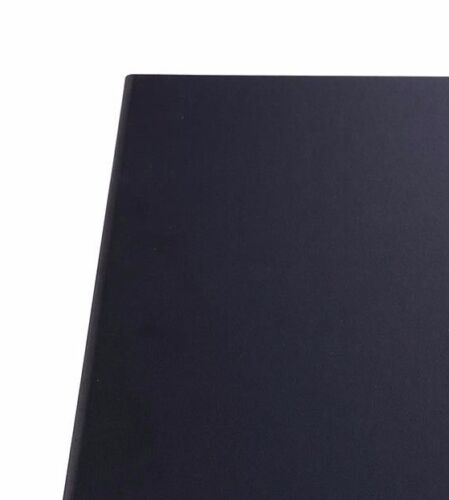 Winco LMF-811BK Black Four-Views Menu Cover for 8.5x11-Inch Insets