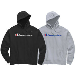Champion-Men-039-s-CH327PLYHD-Big-amp-Tall-Script-Logo-Front-Pocket-Hoodie