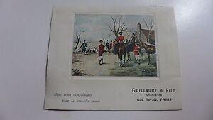 carte-ancienne-GUILLAUME-et-fils-chemisiers-rue-Royale-Paris-cheval-chasse