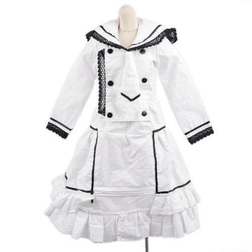 800# White Dress Clothes Clothes 1//3 SD DOD AOD LUTS BJD Dollfie PF