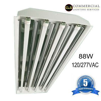 T8 LED High Bay Warehouse Shop Commercial Light Fixture USA MADE Super Bright
