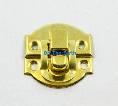 20 Gold Decorative Hasp Jewelry Box Hasp Latch Lock 27x29mm with Screws