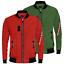 Bomber-Uomo-Invernale-Giubbotto-Aviator-Giacca-Moto-Giubbino-Rosso-Verde miniatura 1