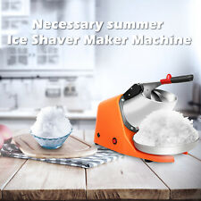 Ice Shaver Crusher Snow Cone Maker 143 Lbs Shaved Ice Machine Electric 180w