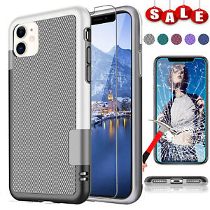For-iPhone-11-11-Pro-Max-Shockproof-Armor-Hard-Case-Cover-Glass-Screen-Protector