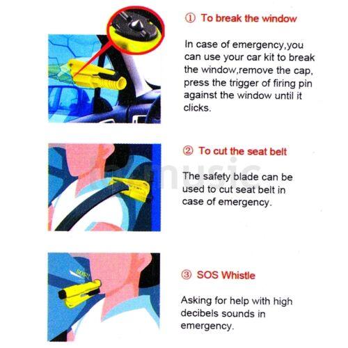 4Set Car Auto Window Glass Breaker Hammer Seat Belt Cutter Life Saving Emergency