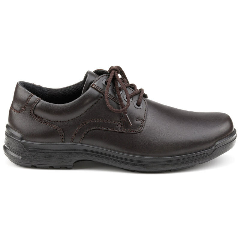 Mens Hotter lace-up Shoe Burton Brown RRP £79