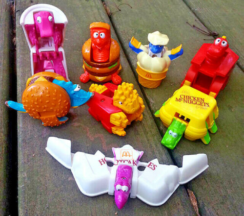 PICK YOUR FAVORITES MCDONALDS 1990 MCDINO CHANGEABLES ROBOTS-DINOSAURS TOYS