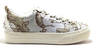 ALVIERO-MARTINI-1-CLASSE-Junior-Geo-scarpe-sneakers-donna-pelle-tela-zeppa