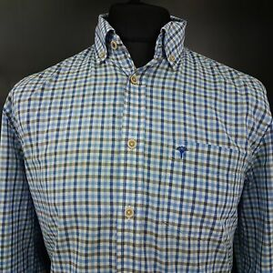 JOOP-Mens-Shirt-MEDIUM-Long-Sleeve-Blue-Regular-Fit-Check-Cotton