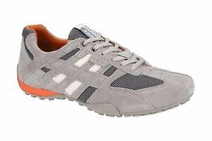 Details about Geox Respira Sport Snake K sneakers men Flats u4207k Grey show original title
