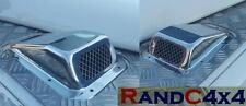 Land Rover Defender Stainless Steel Wing Top Air Intake Grill PAIR Left & Right