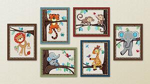 Treetop Jungle Animal Buddies. Safari Animals, Nursery/Baby/Kids Wall Art/Decor