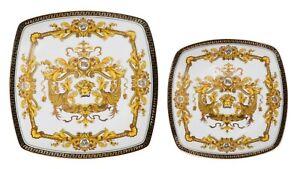10-034-or-7-5-034-Euro-Porcelain-Medusa-Fine-Bone-China-Dinner-or-Dessert-Plates-White