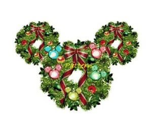 image is loading mickey mouse christmas wreath cross stitch pattern paper - Mickey Mouse Christmas Wreath