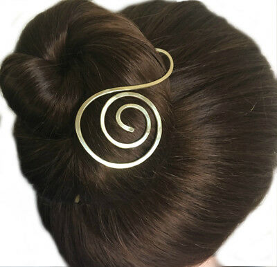Decorative Pin for FINE HAIR Spiral Hair Stick Chignon Bun Holder Gift Women