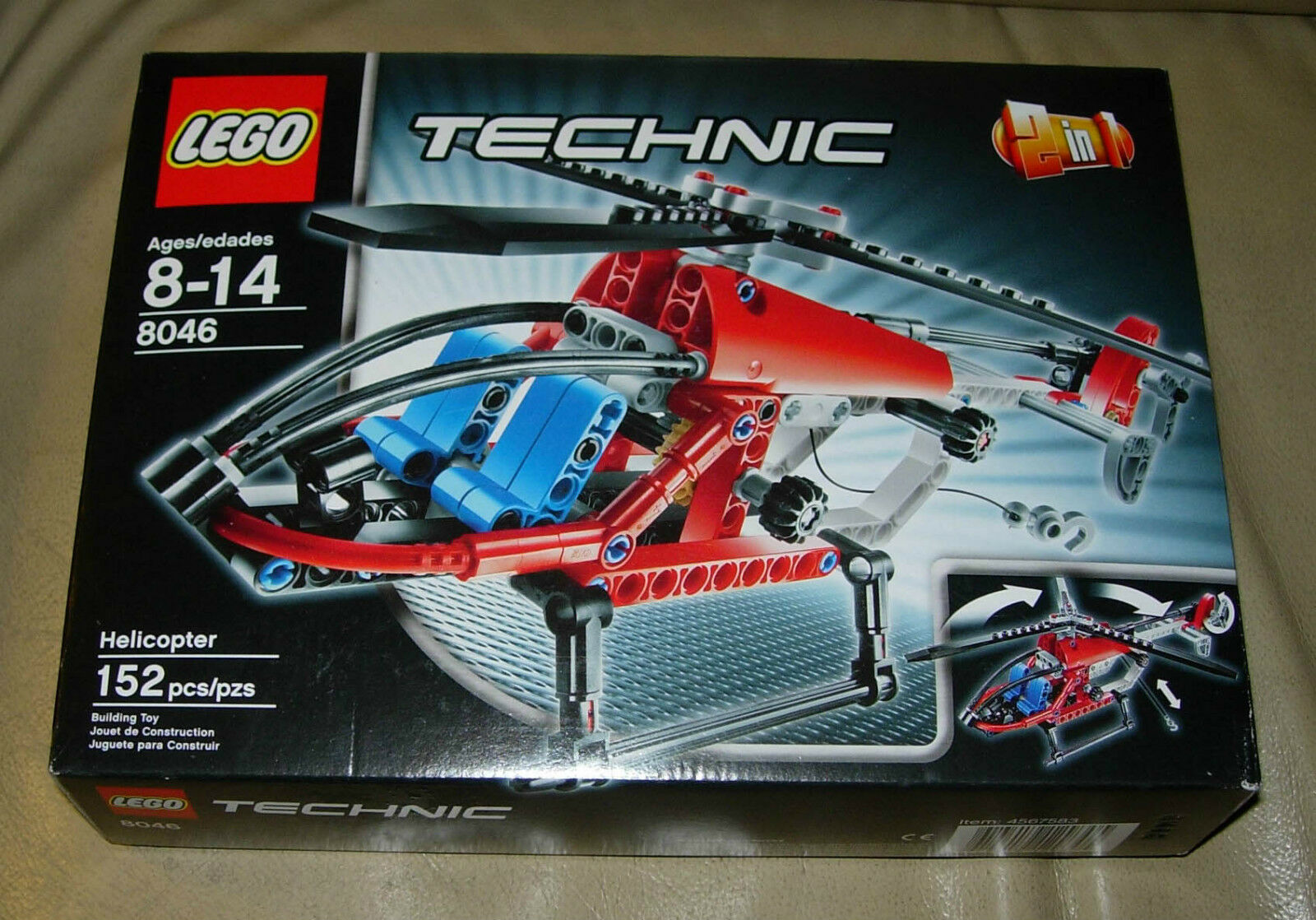LEGO TECHNIC 8046  HELICOPTER  SEAPLANE   2 IN 1  2010  MIB  SEALED  pas cher en ligne