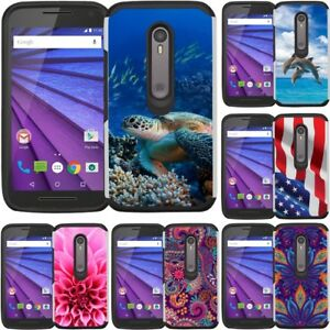 low cost 5d993 fb842 Details about Slim Hybrid Armor Case Phone Cover for Motorola G3 Moto G 3rd  Generation