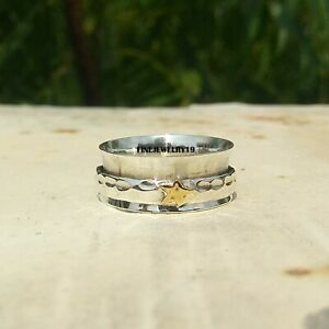 925-Sterling-Silver-Ring-Spinner-Ring-Meditation-Ring-Statement-Ring-Jewelry-A26