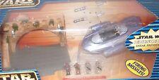 Star Wars 1998 Galoob Micro Machines Action Fleet Gian Speeder Theed Palace NIB