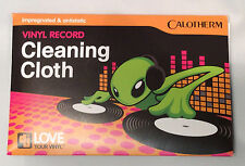Calotherm vinyl record cleaning cloth - impregnated anti-static  soft microfibre