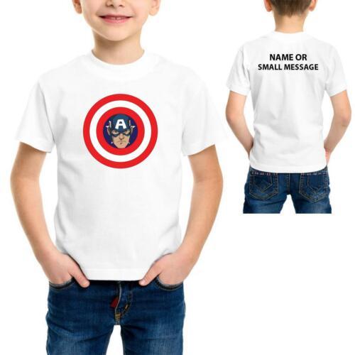 Captain Birthday Theme Kids Boys girls Personalised  custom name T-Shirt