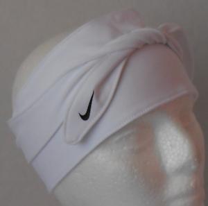 comprar seleccione para oficial descuento mejor valorado Detalles de Nike Adulto Unisex Dri-Fit Pañuelo Cabeza Corbata Color  Blanco/Tamaño Negro Osfm