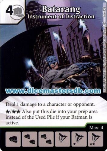 Batarang Instrument of Distraction #76 Justice League DC Dice Masters