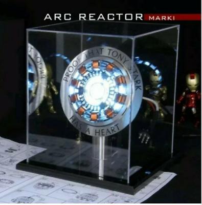 1:1 Iron Man Arc Reactor MK1 DIY Finished Product  Model Led Light USB With Display Box