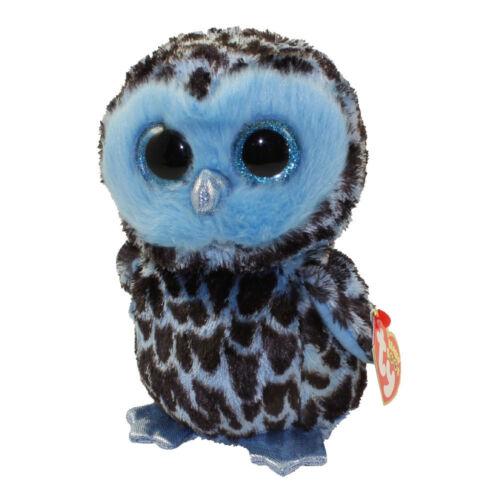 "Ty Beanie Boos 9/"" Medium YAGO the Owl Stuffed Animal Plush w// Heart Tags MWMT/'s"