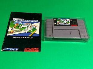 💯 WORKING 🔥 SUPER NINTENDO SNES GAME 🔥 BUGS BUNNY RABBIT RAMPAGE + MANUAL
