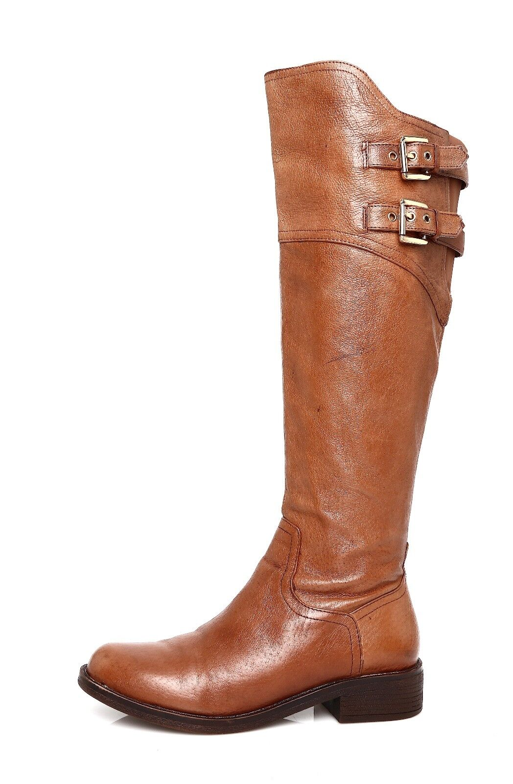 Steve Madden Ogreen Women's Leather Brown Boot Sz 6 M 4455